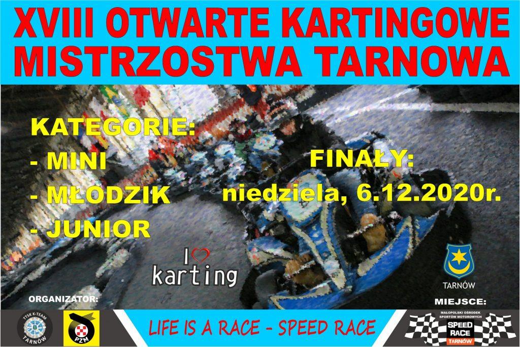 Zawody kartingowe dla dzieci i młodzieży z cyklu: XVIII Otwarte Kartingowe Mistrzostwa Tarnowa